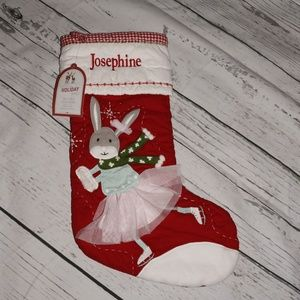 Pottery Barn Quilted Stocking Bunny 'Josephine'